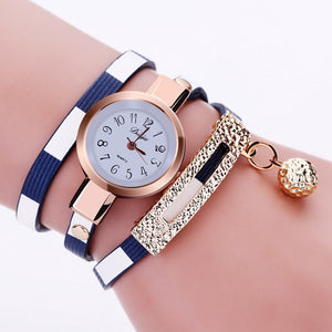 2016 New Fashion Women Watch PU Leather Bracelet Watch Casual Women Wristwatch Luxury Brand Quartz Watch Relogio Feminino Gift