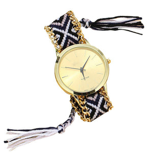 13 Colors Hand-Woven Watch Ladies Quarzt Watches reloj New Brand Handmade Braided Relojes Friendship Bracelet Watches - Cerkos.com