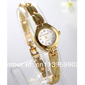 2016 New Fashion Ladies Elegant Bracelet Watch Luxury Full Gold Stainless Steel Quartz Watch Charm Mini Watch Women Dress Watch