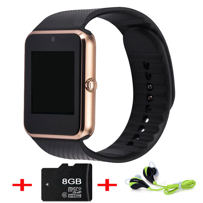 [ Best seller] GT08 Bluetooth Smart Watch wearable devices Support SIM TF Card Smartwatch For apple Android OS phone pk dz09 f69