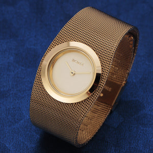 2016 BCDZZ Top Brand Luxury Women Bracelet Watches Gorgeous Gold Lady Dress Stainless Steel Mesh Band Quartz Wrist Watch Gift