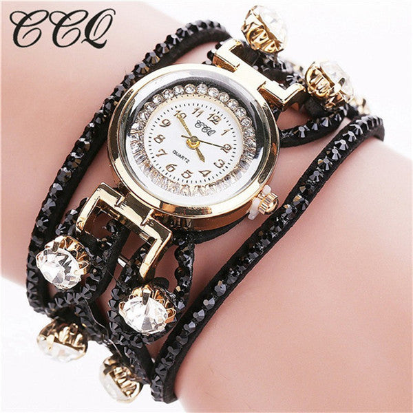 CCQ Fashion Relojes Mujer Women Bracelet Watches Watched Luxury Women Full Crystal Wrist Watch Quartz  Relogio Feminino C44