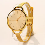 Hot Sale! 2015 Bracelet Watch Women Fashion Casual Luxury Quartz Watch Gold Wristwatches Slim Clock reloj relogio feminino Hour