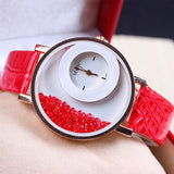 7-colors Hot Sale 2016 New Fashion Lady Quartz Watch Women Dress Korean  Luxury Crystal Quicksand Bracelet Watches W160