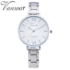 Vansvar Everyday Bracelet Watch Casual Women Watch Relogio Feminino Stainless Steel Wristwatch Fashion Watches 1362