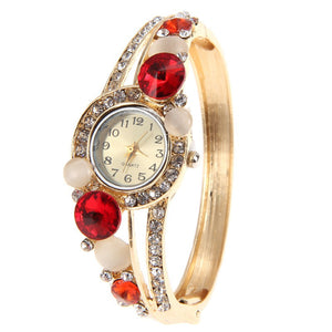 6 Colors Fashion Women's watch Rhinestone Crystal Watches Flower reloj mujer Bangle Bracelet Watches Analog Quartz Ladies Watch