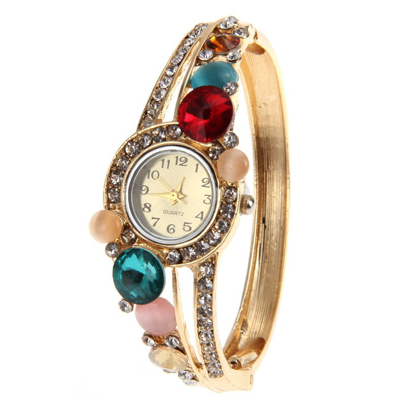 tone bracelet ca dp bangle and klein watches set amazon watch gold s anne women ak
