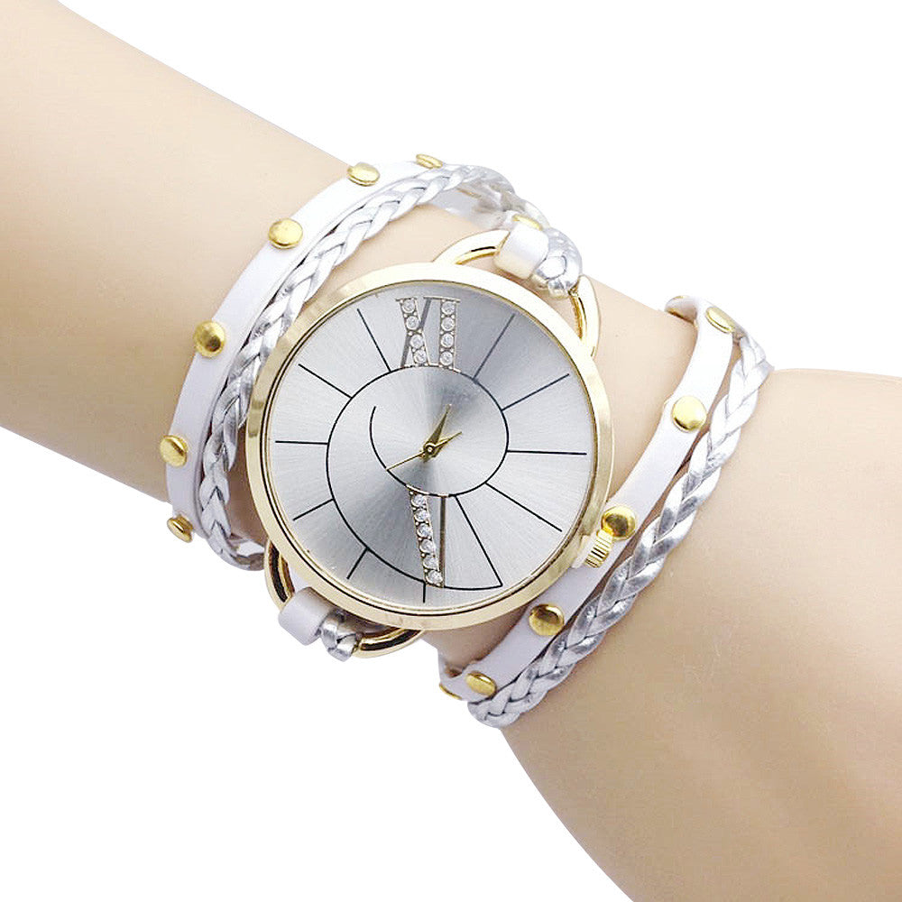 2016 Fashion Dress Ladies Watches Bracelet Watch Women Relogio Feminino Casual Knit Long Leather Watch Clock Female Montre
