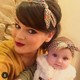 1 Set Mom and Me Headband Hair Band Bow Knot Headbands Baby Hair Accessories Turban Baby and Mommy Cotton Headwrap Set 2 Pcs