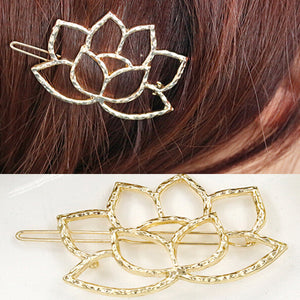 New Hair Jewelry Gold Flower Hairpins Gold Hairpin Acessorios Para Cabelo Women Hair pin Bridal Hair Accessories Gift t103