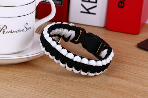 1PC Retail Cobra PARACORD BRACELETS KIT Military Emergency Survival Bracelet Men Charm Bracelets Unisex