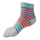 Wiggle Socks Creative Fashion Stripe Middle Tube Socks Women Stripe Cotton Casual Socks Daily Sports GYM Five Toe Socks - Cerkos  - 19