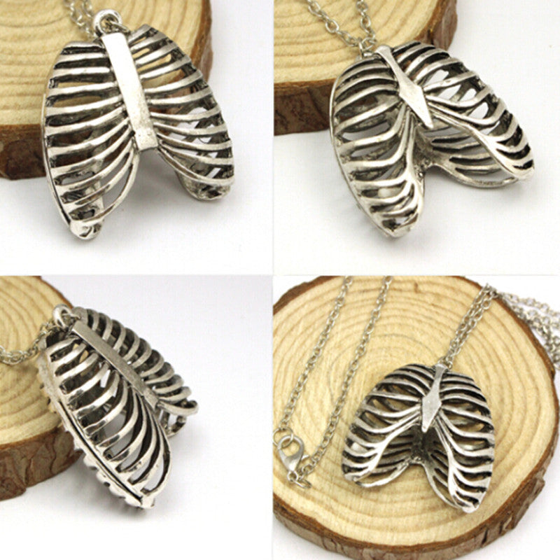 Anatomical Human Rib Cage Anatomy Pendants Vintage Necklace For women Cheap Fashion Jewelry Long Necklace Collares Populares - Cerkos.com