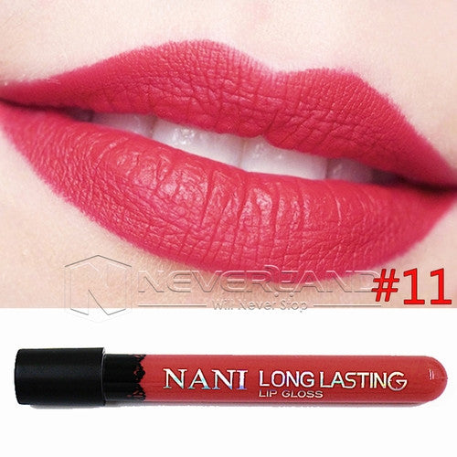 Hot Sale Waterproof Elegant Daily Color Lipstick matte smooth lip stick lipgloss Long Lasting Sweet girl Lip Makeup C10 - Cerkos  - 9