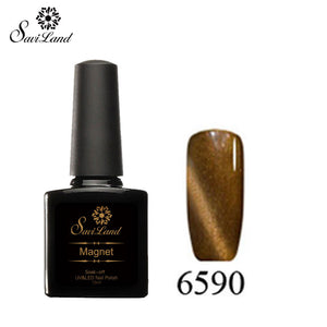 Saviland 3D Magnet UV Nail Gel Polish Cat Eye Colors Manicure Cat Colors 10ml Healthy and Eco-friendly Gel Lacquer Best On Ali - Cerkos  - 16