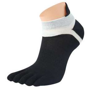 2015  new 1 Pair MenMesh Meias Sports Running Five Finger Toe Socks - Cerkos.com