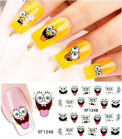 1sheet Nail Art Water Transfer Stciker Decals Sponge baby New Stickers Decorations Watermark Tools for Polish XF1248 - Cerkos.com