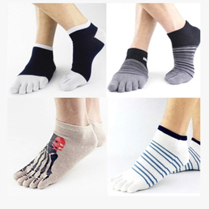 Wiggle Socks 2 Pairs/Lot New Unisex Socks Cotton Meias Sports Five Finger Socks Casual Toe Socks Breathable Calcetines Ankle Socks 21 Colors - Cerkos  - 31