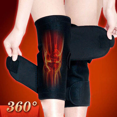 1Pair Tourmaline self heating kneepad Magnetic Therapy knee support tourmaline heating Belt knee Massager - Cerkos.com
