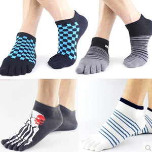 Wiggle Socks 2 Pairs/Lot New Unisex Socks Cotton Meias Sports Five Finger Socks Casual Toe Socks Breathable Calcetines Ankle Socks 21 Colors - Cerkos  - 1