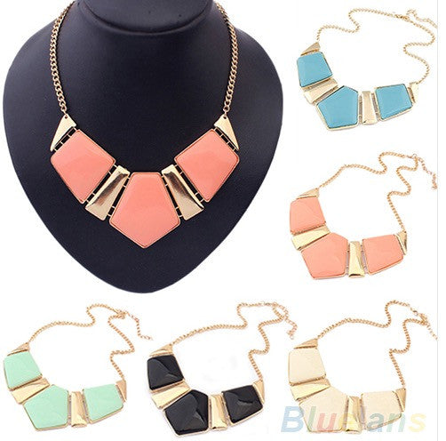 brand new gold collar necklaces pendants fashion statement metal choker necklace for women 2014 vintage jewelry accessories - Cerkos  - 1