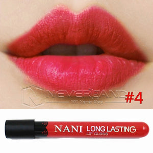 Hot Sale Waterproof Elegant Daily Color Lipstick matte smooth lip stick lipgloss Long Lasting Sweet girl Lip Makeup C10 - Cerkos  - 10