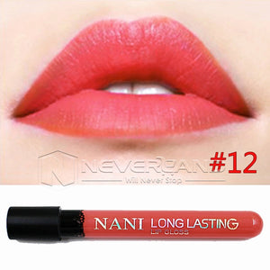 Hot Sale Waterproof Elegant Daily Color Lipstick matte smooth lip stick lipgloss Long Lasting Sweet girl Lip Makeup C10 - Cerkos  - 5