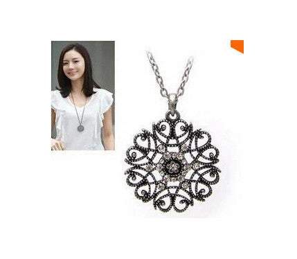 Satr Jewelry 2015 New Design European Pop hollow flower long necklace sweater chain necklaces & pendants Fro Woman 2015 new - Cerkos  - 2