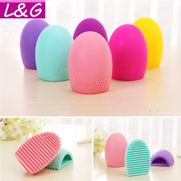 New Hot Selling Brushegg Silica Glove Makeup Washing Brush Scrubber Board Cosmetic Cleaning  Tools E10008 - Cerkos  - 1