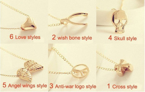You can mix different items cheapest pendant necklace gold color chain necklace clavicle chain pendant  necklace - Cerkos  - 1