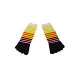 Wiggle Socks Creative Fashion Stripe Middle Tube Socks Women Stripe Cotton Casual Socks Daily Sports GYM Five Toe Socks - Cerkos  - 28
