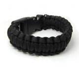 Handmade Woven Rope Paracord Survival Bracelet Men Survivor Bracelet Parachute Cord Emergency Paracord Camping Survival Bracelet