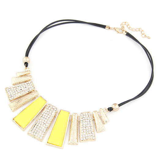 New Vintage Jewelry Gold Plated Alloy Crystal PU Leather Necklaces & Pendants - Cerkos  - 4