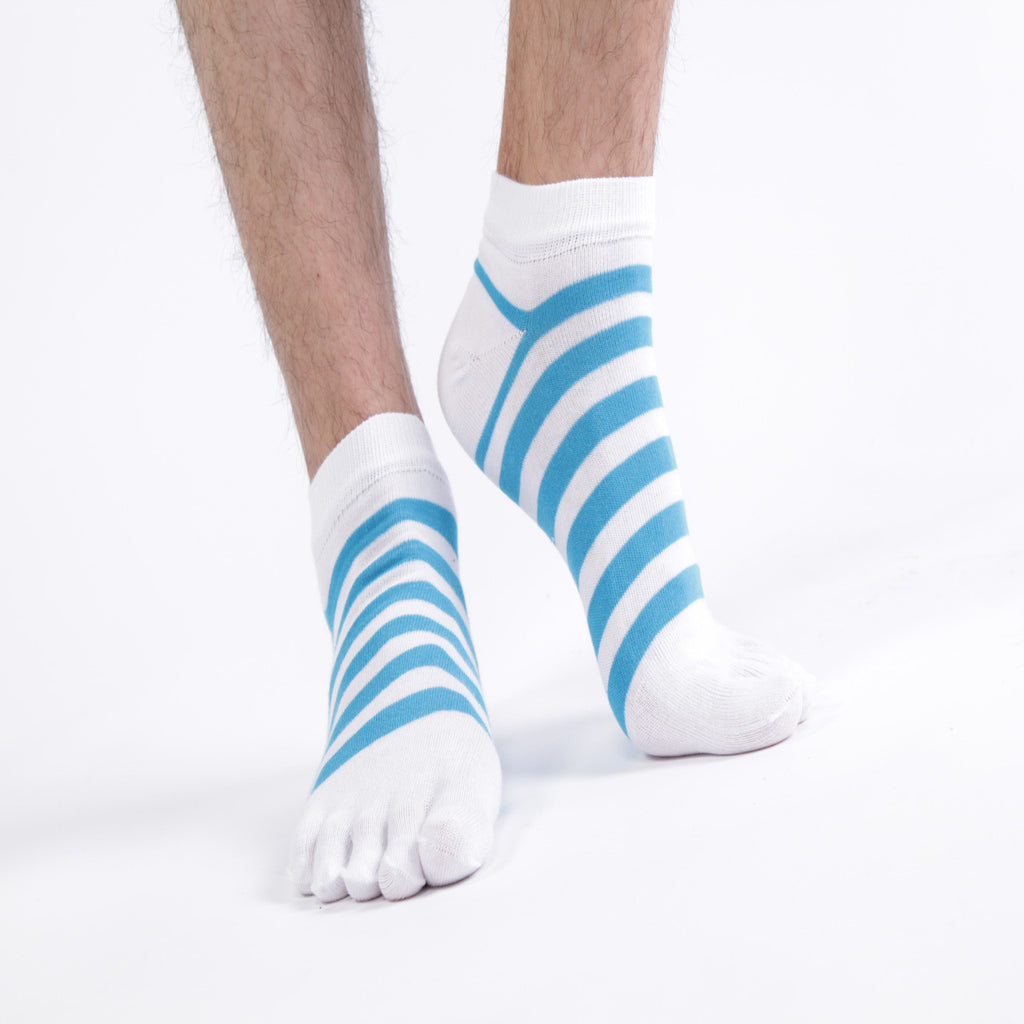 Wiggle Socks Toe Socks High Quality Health Care  Stripe Socks Hit Color Cotton Meias Sports Calcetines Ankle Deodorant - Cerkos  - 1