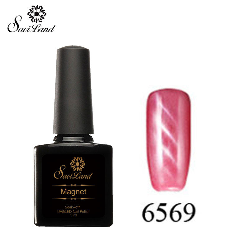 Saviland 3D Magnet UV Nail Gel Polish Cat Eye Colors Manicure Cat Colors 10ml Healthy and Eco-friendly Gel Lacquer Best On Ali - Cerkos  - 23