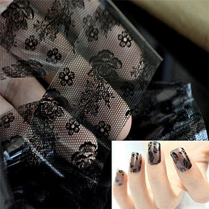 1pc 3D Black Lace Nail Art Foil Stickers Flower Nail Decals Tips Manicure Tool 2015 Hot - Cerkos.com