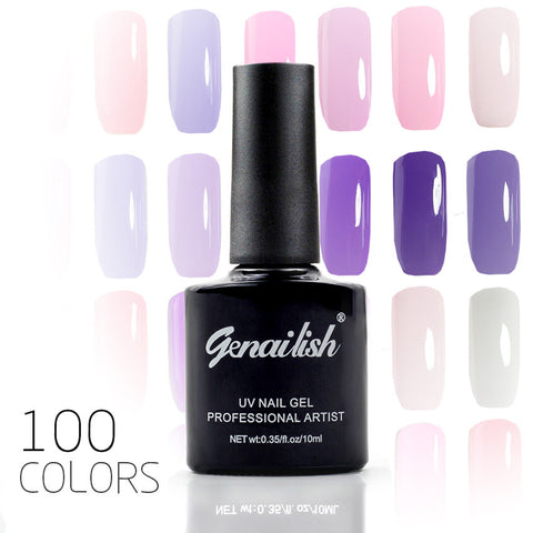100 Color Nail Gel Polish Gel Long-lasting Soak-off LED UV Gel High Quality Nail Polish Hot Nail Gel 10ml/Pcs Nail Art Tools-NG3 - Cerkos.com
