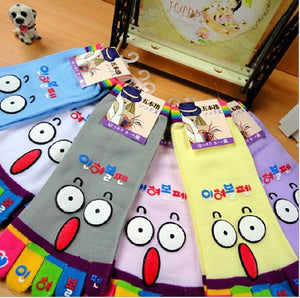 Wiggle Sock Fashion Five toe sock women Sweet Girl type (Hello Kitty cat / Bear / Striped / Surprise / leopard cat ) short socks - Cerkos  - 23