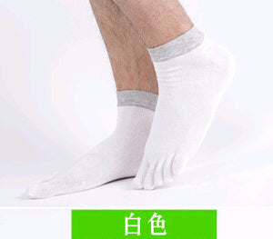 2015 1 Pair/Lot New Men's Socks Cotton Meias Sports Five Finger Socks Toe Socks For EU 40-46 Calcetines Ankle Sok OM - Cerkos.com