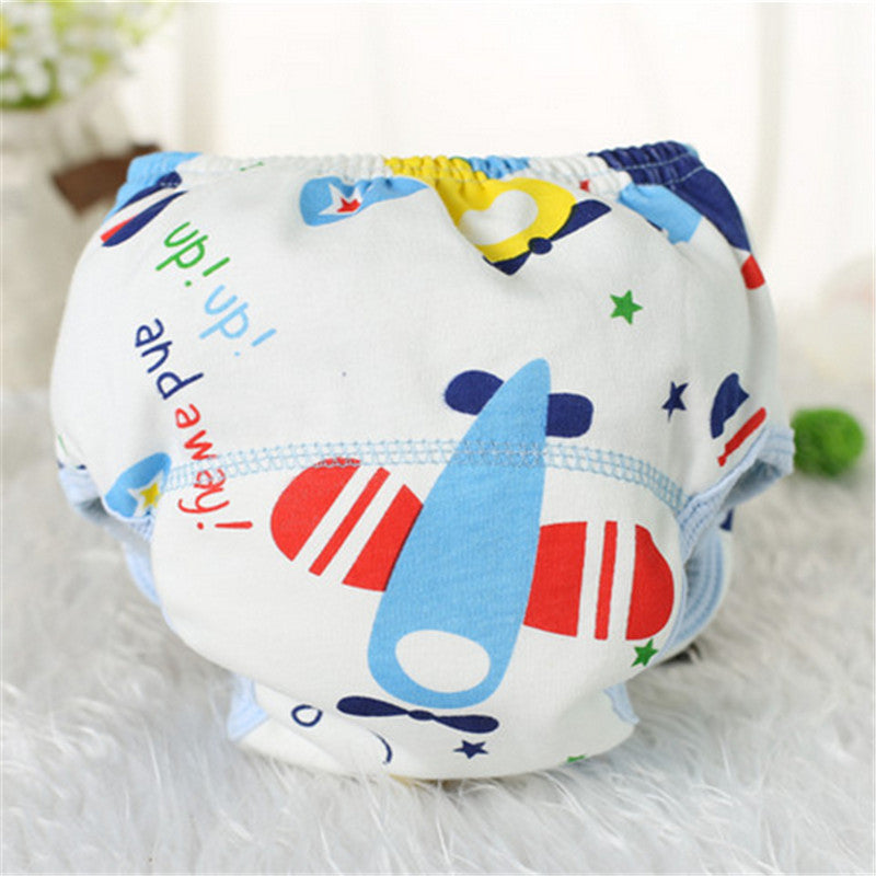 3Pcs Baby learning pants waterproof panties 100% baby cotton training pants embroidery baby diaper trousers - Cerkos.com