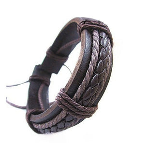 PU leather bracelets & bangles high quality cool leather bracelet men Casual Style fashion men's jewelry