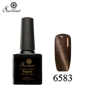 Saviland 3D Magnet UV Nail Gel Polish Cat Eye Colors Manicure Cat Colors 10ml Healthy and Eco-friendly Gel Lacquer Best On Ali - Cerkos  - 10