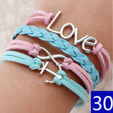 Hungry Game Love, Star Charm Bracelet Wax Cord Leather Braid Bracelets Bangles