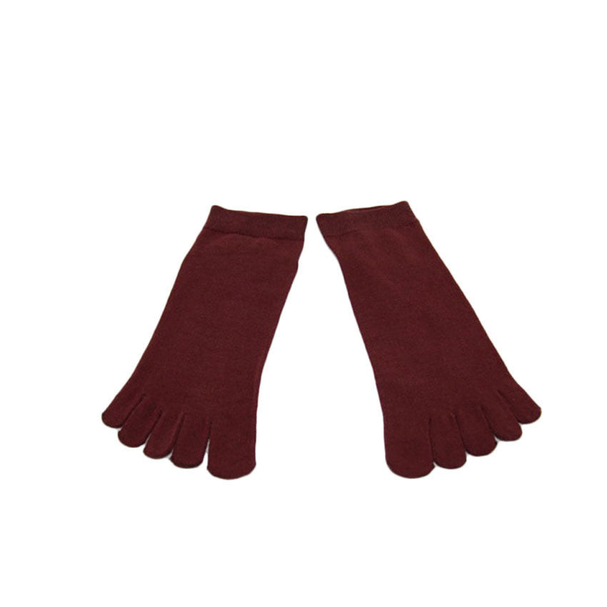 Wiggle Socks1 Pair Casual style Ventilation Socks Combed Cotton Sports Five Finger Short Socks Toe Socks - Cerkos  - 24