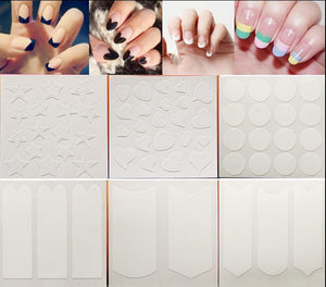 1pc Nails Sticker Tips Guide French Manicure Nail Art Decals Form Fringe Guides DIY Styling Beauty Tools - Cerkos.com
