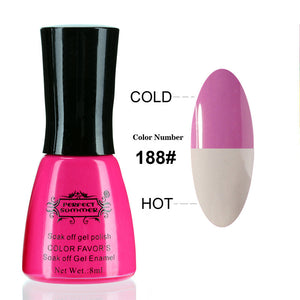 Nail Gel Polish Temperature Change Nail Color UV Gel Polish 10ml 1pcs Nail Gel for Nail soak off gel polish - Cerkos  - 7