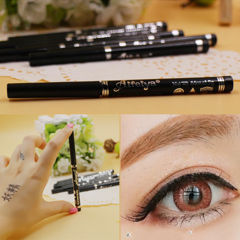Fashion High Quality Long Lasting Black Waterproof Eyeliner Pencil Eyeshadow Natural Professional Cosmetic - Cerkos