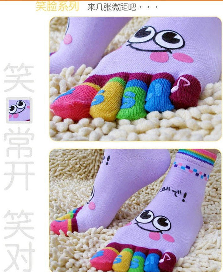 Wiggle Sock Fashion Five toe sock women Sweet Girl type (Hello Kitty cat / Bear / Striped / Surprise / leopard cat ) short socks - Cerkos  - 14