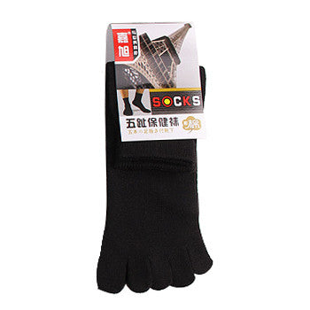 2015 Fashion new arrival men's Absorb Sweat Deodorant  solid color Sports Socks Healthy Care MIX Cotton toe socks - Cerkos.com