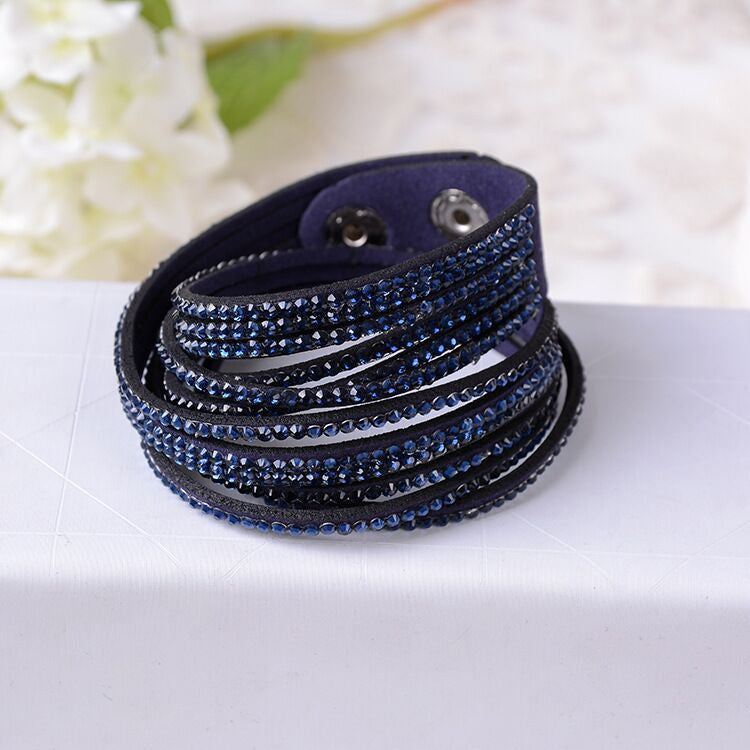 New Fashion 12 Layer Leather Bracelet! Factory Discount Prices, Charm Bracelet!1 Free Shipping!9 Color Choices
